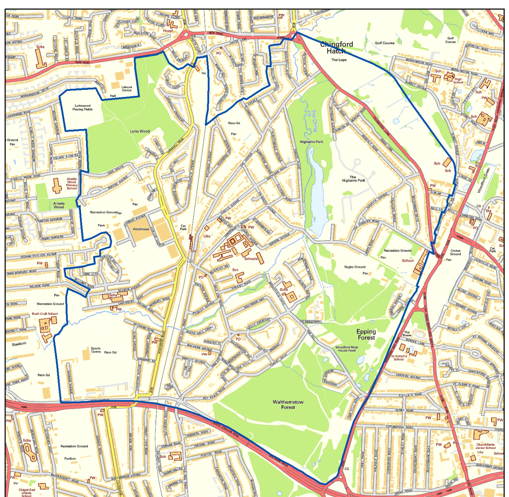 Highams Park Neighbourhood Plan Boundary copy