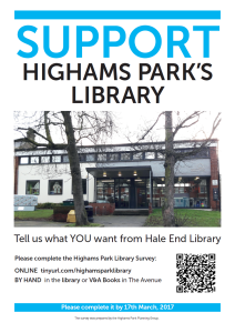 Library Consultation poster