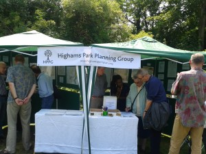 Collecting ideas at Highams Park Day