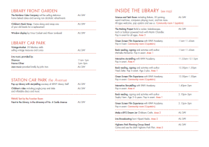 Event Timetable - Love Hale End Library Day