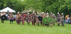 Heavyily armoured Vikings