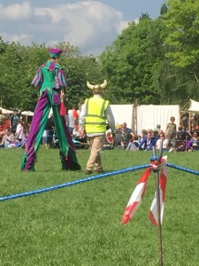Stilt walker at large